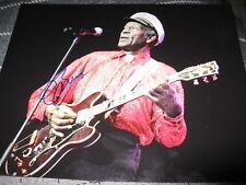 Chuck Berry Autographe Signé 8x10 Johnny B Goode Rock en Personne Légende Coa