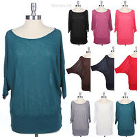 [PLUS SIZE] Slub Knit 3/4 Batwing Dolman Sleeve Sheer Top Round Neck Comfortable