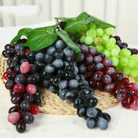 Real Touch Artificial Fruit Grapes Plastic Home Garden Wedding Party DecoratBLY