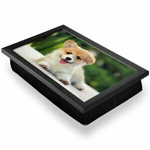 Deluxe Lap Tray - Fluffy Welsh Corgi Puppy Dog Home Gift #2702