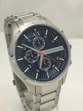 Armani Exchange Men's Chronograph Blue Dial Silver Stainless Steel Watch AX2155