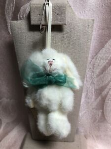 Boyds Bears Mini Pkush Rabbit Ornament ~ Flip Hopsey