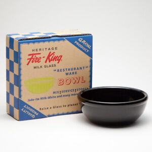 Heritage Fire-King 15oz Bowl Black Fire King Japan
