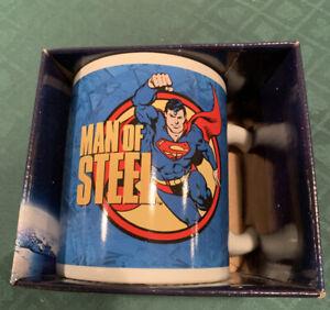 "Superman  Man of Steel  Mug  12 oz Ceramic  4""  Vandor"