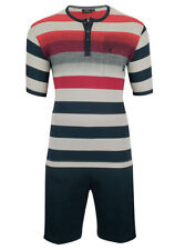Gestreifte Herren-Pyjama-Sets in Größe 48