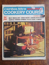 Vintage CORDON BLEU Monthly Cookery Course Magazine 6 Meat Recipes Choux Pastry