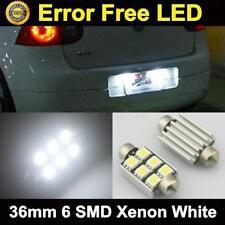 2pcs White Error Free 6-SMD 5050 LED License Plate Light Xenon For Audi A4 2005