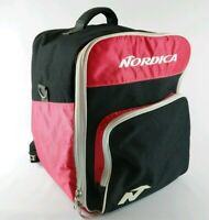 Vtg Nordica Ski Boots Bag Bagpack Red Black Large