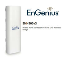 Engenius EnJet AC Wi-Fi 5 Wave 2 Outdoor AC867 5 GHz Wireless Bridge ENH500v3
