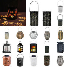 Retro Solar LED Lantern Outdoor Garden Landscape Lamp Lawn Hanging Decor Lamp