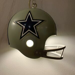 Dallas Cowboys Vintage 1970's Hanging Lamp With Chain. Tested And Works