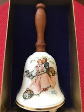 "New ListingVintage Gorham Bone China 1976 Norman Rockwell ""Love's Harmony"" collectors bell"