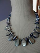 in Japan.Gorgeous Handmade Necklace Authentic Mother Of Pearl.Made