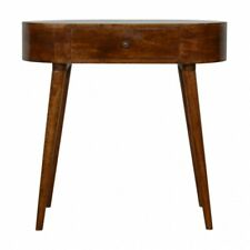 Tan - Handmade Chestnut Rounded Petite Console Table Home Furniture