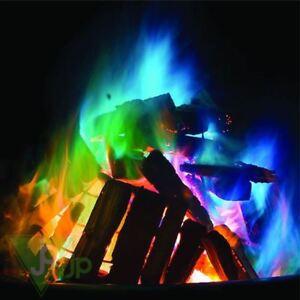 Mystical Fire Magic Coloured Flames Bonfire Sachets Fireplace Pit Patio
