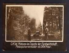 117692 Foto DKW Motoren in der Forstwirtschaft Motorpulververstäuber 1928 Rasmus