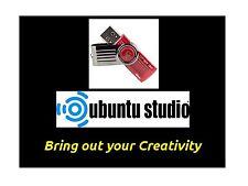 Linux UbuntuStudio 64bit Full Operating System & Software on branded USB stick