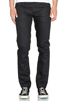 Nudie Mens Slim Fit Raw Denim Jeans | Grim Tim Dry Dark Mind