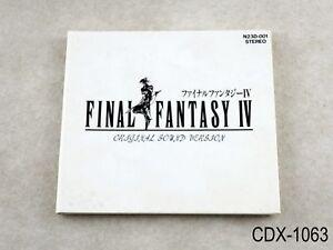 Final Fantasy 4 IV (DigiPack) Original Sound Version CD JP OSV Import US Seller