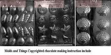 Shell Assortment Chocolate Candy Mold+ set of 3