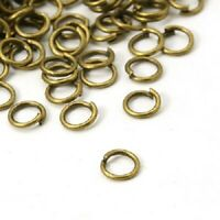 100 x 5mm Antique bronze color jump rings high quality jump single ring loop