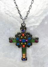 Firefly Fair Trade Jewelry Swarovski Crystal Encrusted Cross Pendant Necklace