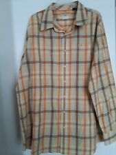 ENYCE CLOTHING Button Front Casual Shirt Long Sleeve Yellow Plaid Mens 3XL