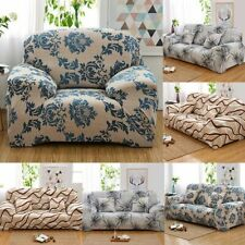 1-4 Seater Stretch Loveseat Sofa Couch Protect Cover Slipcover Floral Elastic