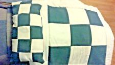 Dolls Pram Pillow Quilt/Duvet in white and blue checks