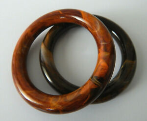 Vintage Jewelley Marbled Lucite Chunky Statement Bangle Bracelet Autumnal Colour