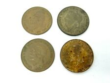 Georgivs DEI GRA BRITT OMN REX FID DEF IND 1931 One Penny 1922 Half Crown Coins