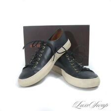 #1 MENSWEAR Buttero Made in Italy Black Unlined Leather Tanino Sneakers 44 NR