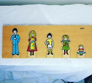 Vintage GALT Wooden Toy Family Puzzle