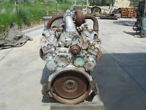 Used Detroit Diesel 8V92 Turocharged silver 92 Engine Core