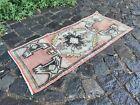 Vintage Turkish small rug, Handmade wool rug, Doormats, Decor rug   1,4 x 3,0 ft