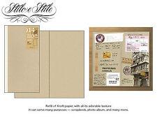 Midori Kraft Paper Notebook | Refill Midori 014 Traveler's Notebook Regular Size