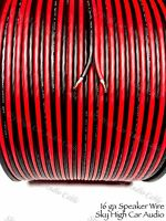 500 ' feet TRUE 16 Gauge AWG RED/BK Speaker Wire W/ ROLL Car Home Audio ft