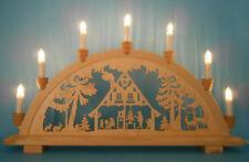Schwibbogen Lichterbogen 7 Lampen aus Holz Haus erzgebirgische Tradition neu