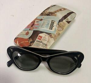Vintage Original Mid Century CATS EYE Sunglasses Fashion Glasses