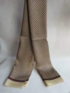 Men's 100% Mulberry Scarf Double Layer Long Neckerchief Circle light brown
