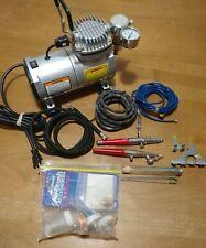 Central Pneumatic Prof Mini Air Compressor 95630 and Air Brush Kit