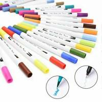 100 Farbe Pinselstifte Aquarell Stifte Doppelspitze Kalligraphie Handlettering