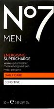 No7 For Men Energising Supercharge Daily Care Sensitive Moisturiser - 50ml