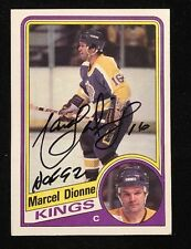 MARCEL DIONNE 1984 TOPPS AUTOGRAPHED SIGNED AUTO HOCKEY NHL CARD 64 KINGS