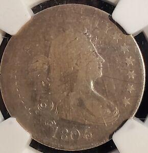1806 Draped Bust Quarter 25C Rare NGC VG Details!