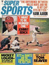 1970 Oct. Super Sports Baseball magazine, Hank Aaron, Braves, Johnny Bench ~ Fr
