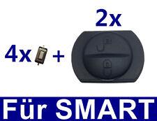 2x tâtonner caoutchouc pour Smart voiture Colt de MITSUBISHI FORFOUR Clé 454+
