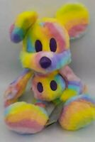 "New Disney Parks Exclusive Mickey Mouse 15"" Rainbow Tie Dye Tye Die PLUSH DOLL"
