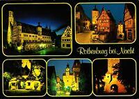 Rothenburg bei Nacht , Ansichtskarte ,1994 gelaufen