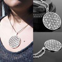 Schmuck Halskette Blume Des Lebens Anhänger Silberkette Heilige Geometrie